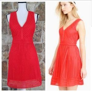J Crew Orange Eyelet Dress Size 6